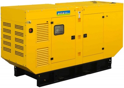 Дизельный генератор Aksa APD125A в кожухе