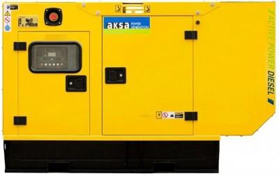 Дизельный генератор Aksa APD40A в кожухе