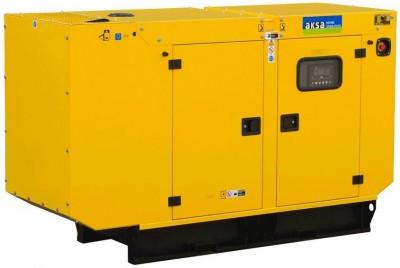 Дизельный генератор Aksa APD50A в кожухе
