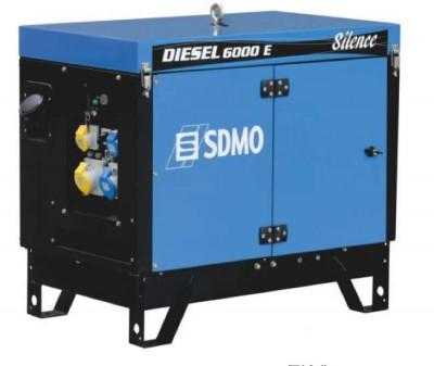 Дизельный генератор SDMO DIESEL 6000 E SILENCE с АВР