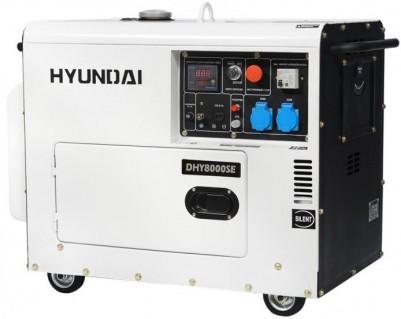 Дизельный генератор Hyundai DHY 8000SE