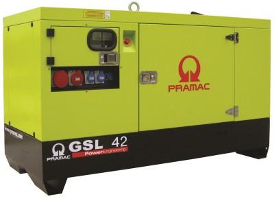 Дизельный генератор Pramac GSL 42 D в кожухе