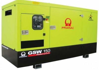 Дизельный генератор Pramac GSW 150 V в кожухе