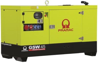Дизельный генератор Pramac GSW 45 Y в кожухе с АВР