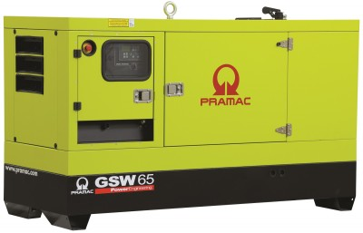 Дизельный генератор Pramac GSW 65 P в кожухе