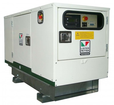 Дизельный генератор Lister Petter LWX 27 3 фазы в кожухе