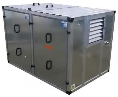 Бензиновый генератор Kipor KGE 12 E3 в контейнере с АВР