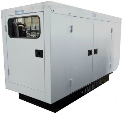 Дизельный генератор АМПЕРОС АД 12-Т230 P (Проф) в кожухе
