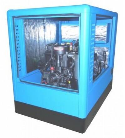 Дизельный генератор Вепрь АДА 10-230 ТЯ в кожухе